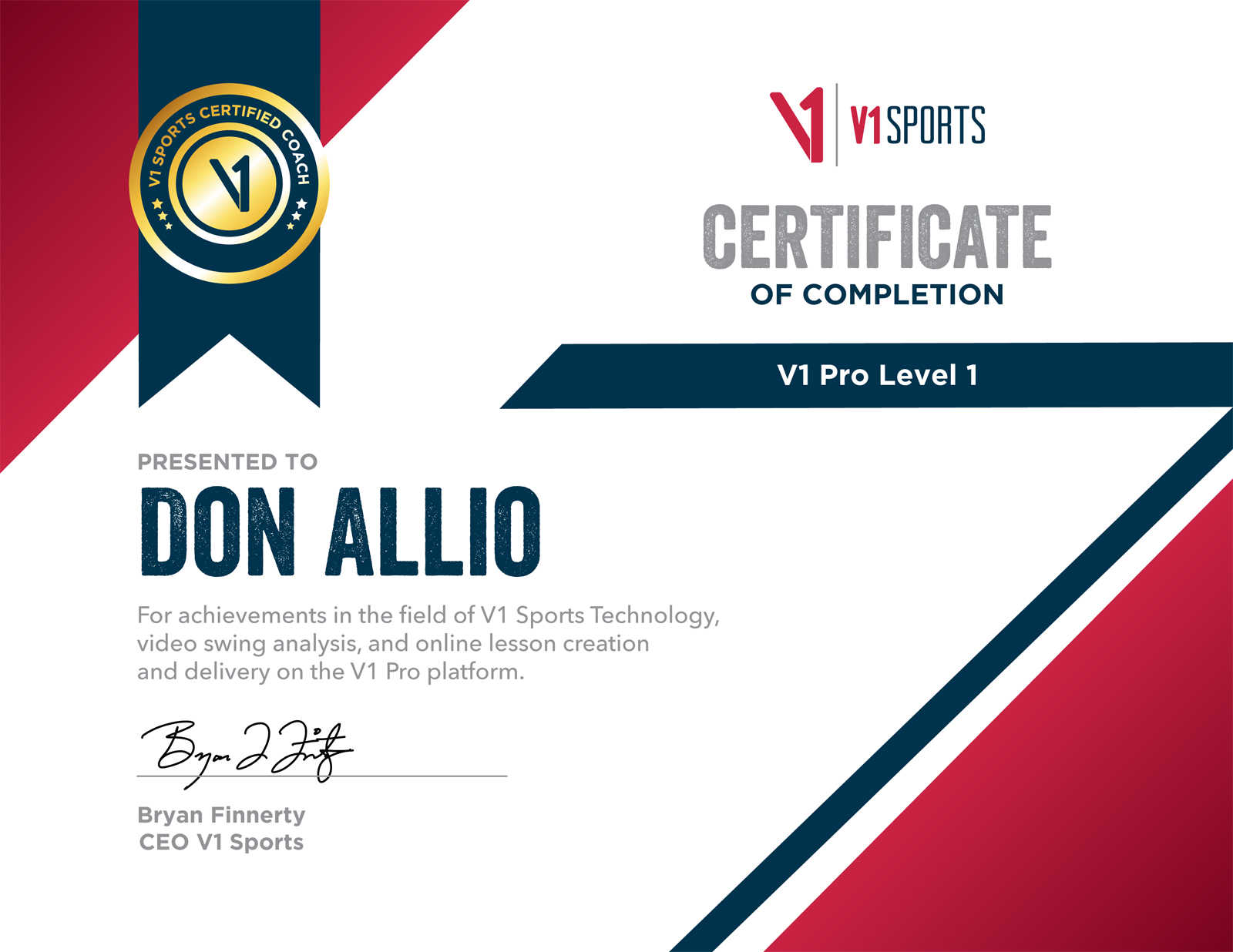 V1-Pro-Level-1-Certification-Don-Allio